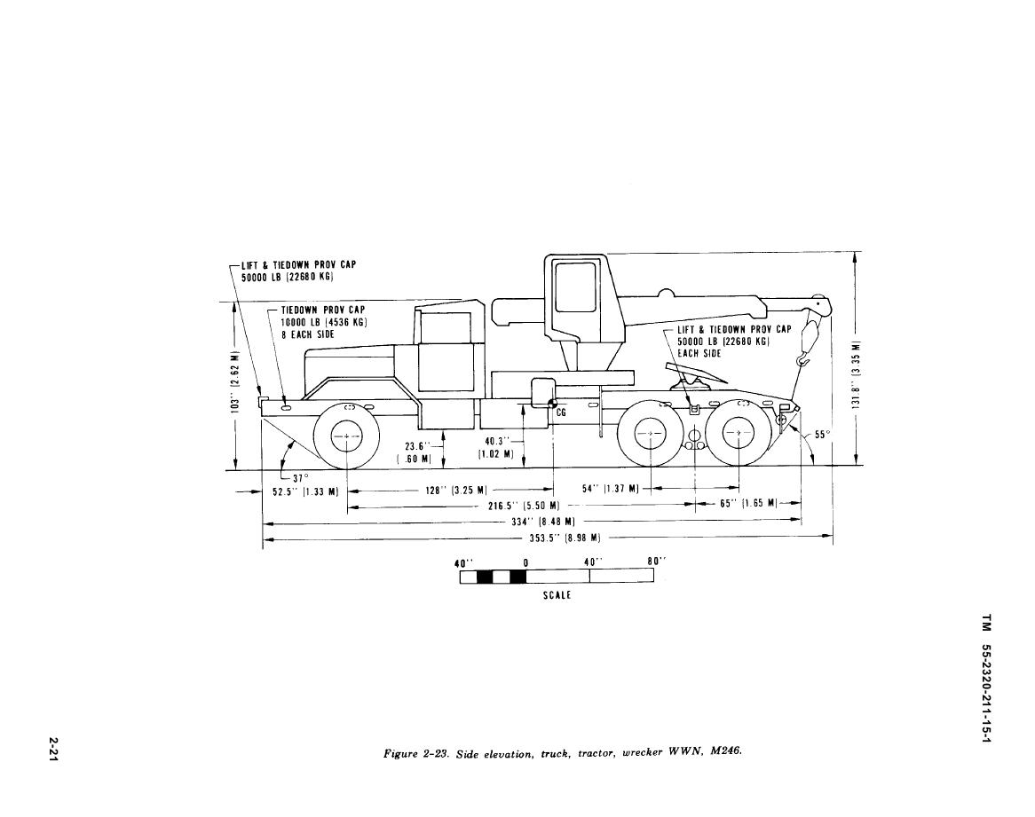 Figure 2 23 Side Elevation Truck Wrecker M246 Wesbar Wiring Diagram