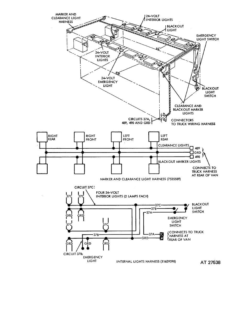 Figure 2-41.1. Van 24-volt dc system wiring diagram on