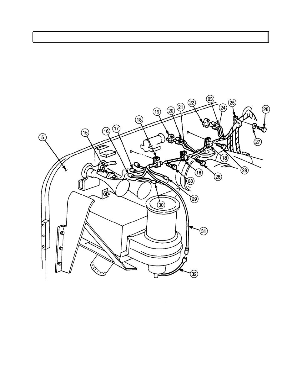 front wiring harness  m939a2  replacement  contd