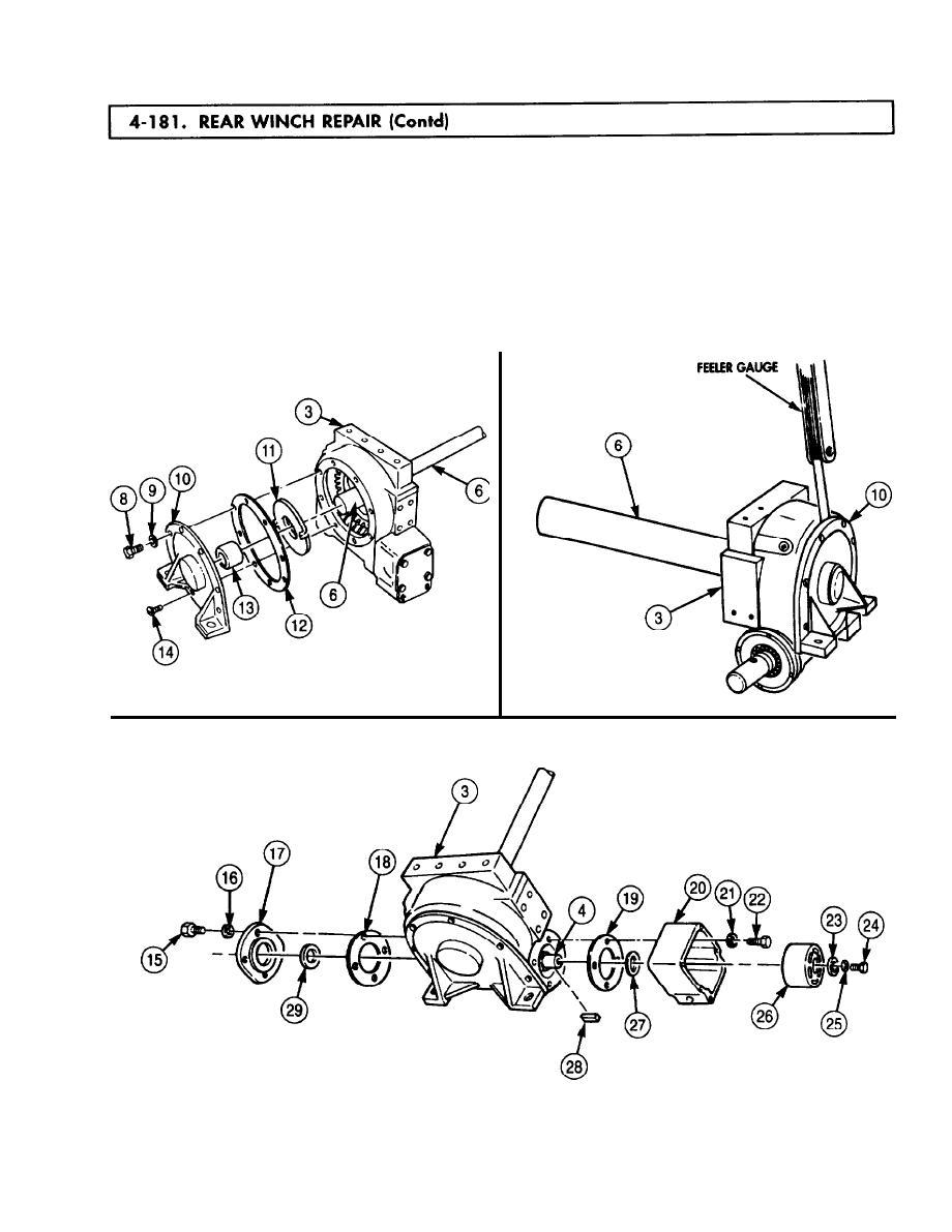 24 4 truck 5 ton 6x6 m939 m939a1 m939a2 series trucks diesel manual - Rear Winch Repair Cont D Tm 9 2320 272 24 30609