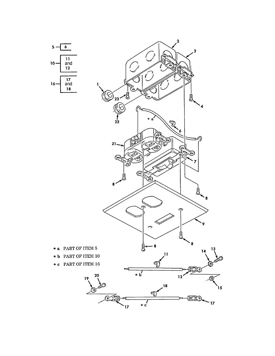 figure 450  van ceiling switch  front wall switch  receptacle assembly  and related parts